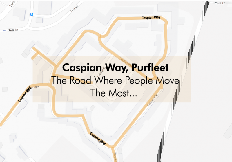 The Road That People Move The Most In Purfleet